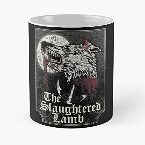 Slaughtered Lamb An American Werewolf In London Engl -the Funny Coffee Mugs Novelty Halloween Gifts Ceramic Cup For Halloween, Holiday, Christmas Party Decoration 11 Ounce - White Crepchief.