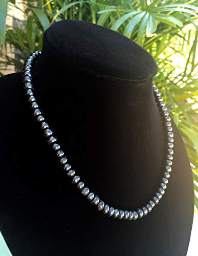 (Elite Shungite Necklace Noble Shungite Roundel Bead Necklace Chain Karelia Heal.Natural Crystals & Rocks for Cabbing, Cutting, Lapidary, Tumbling, Polishing, Wire Wrapping,)
