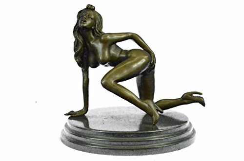 Handmade European Bronze Sculpture Limited Edition Signed Original Nude Sexy Woman Figurine Bronze Statue -EUST-080-Decor Collectible Gift (Nude Limited Edition)