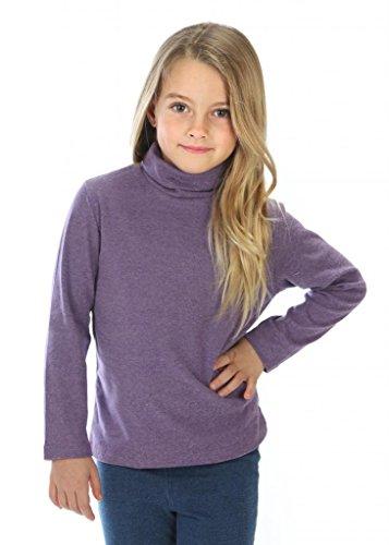 high5 Little Girls solid Color Turtleneck 100% Cotton Size 4 Purple