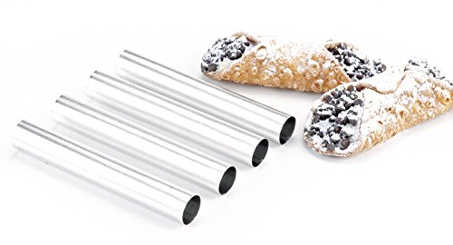 NORPRO 3660 Stainless Steel Cannoli Dessert Pastry Forms 4 Pack