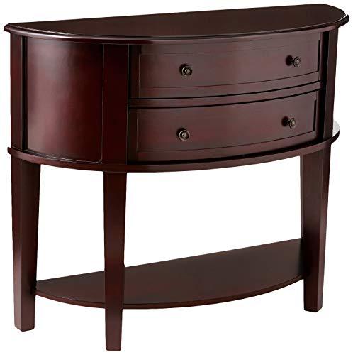 (Demilune Entry Sofa Table Cappuccino)