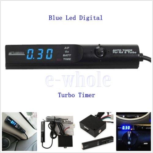 FidgetGear Universal Auto Turbo Timer NA & Turbo Digital Blue LED Display Control Unit GW