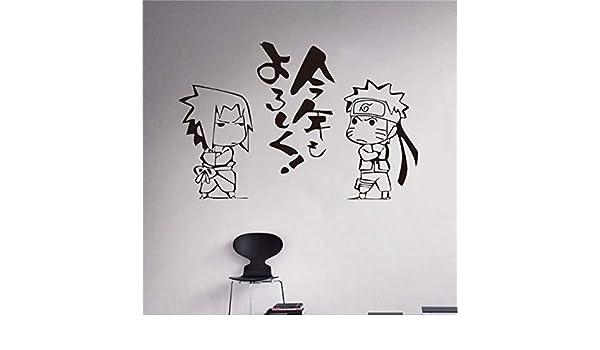 asd137588 Pegatinas de Pared Japonés de Dibujos Animados Naruto ...