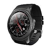 Finedayqi ❤ LEMFO LF25 GPS Smart Sports Watch HD Large Screen Display Bluetooth 4.0 1G 16G (Black)