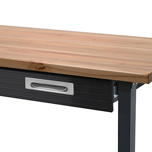 Seville Classics WEB484 Ultra Wood Top Workbench on Wheels, Ultragraphite