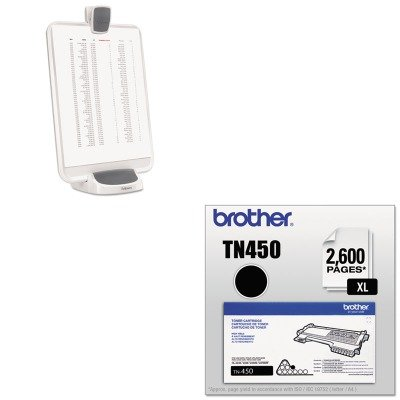 KITBRTTN450FEL9311501 - Value Kit - Fellowes Document lift with dry erase surface (FEL9311501) and Brother TN450 TN-450 High-Yield Toner (BRTTN450)