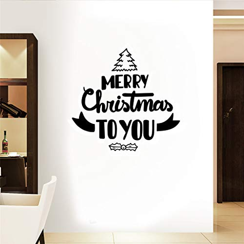 Iusun Merry Christmas to You Wall Stickers DIY Mobile Creative Window Decals -