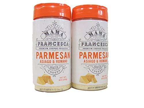 Mama Francesca Parmesan Asiago & Romano Premium Grated Authentic Italian Cheese (2 Pack) Gluten Free by Mama -