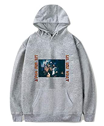 Rapper LIL UZI VERT printing hoodie round neck pullover cotton top casual grey sweatshirt