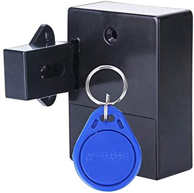 Schwarz Semoic Unsichtbare RFID Freies ?Ffnen Intelligente Sensor Schrank Locker Kleiderschrank Schuhschrank Schublade T/üR Schloss Elektronische Dunkle Sperre