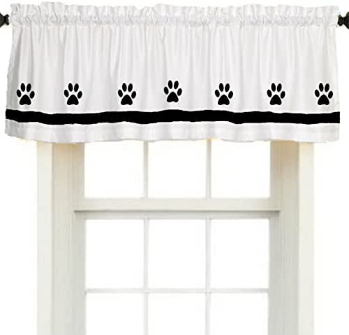 Amazon Com Paw Print Dog Window Valance Treatment In