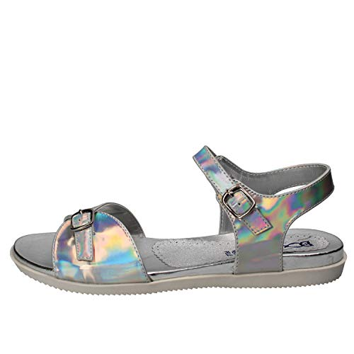 DIDI BLU Sandals Baby-Girls Leather Silver 6-6.5 US