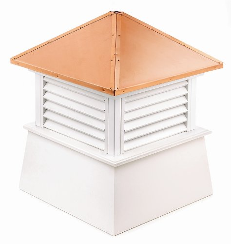 """Manchester Vinyl Cupola, Perfect Size for a Small Shed, 18"""" square x 22"""" high, Pure Copper Roof, Quick Ship by Good Directions (Image #2)"""