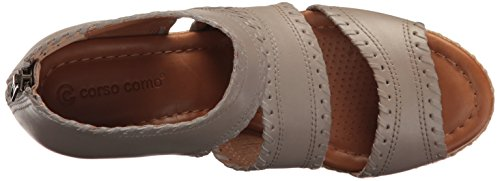 Wedge Como Sandal Grey Women Leather Espadrille Corso Joyce Brushed TUwIqxHx