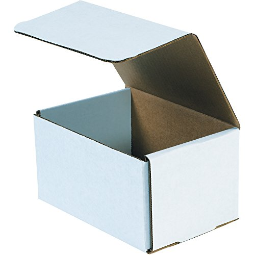 "BOX USA BM754 7""L x 5""W x 4""H, White (Pack of 50)"