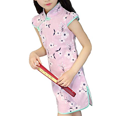 Baby Girls Dresses Chinese Traditional Style Cheongsam Costume Children Clothing,Style Twenty One,9
