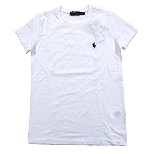 Polo Ralph Lauren Womens Crew Neck Jersey T-Shirt (L, Rl White) (Polo Ralph Lauren T Shirts Women)