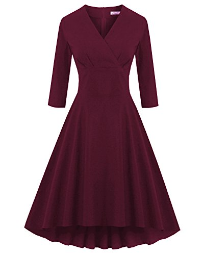 50s style dress with sleeves - 3
