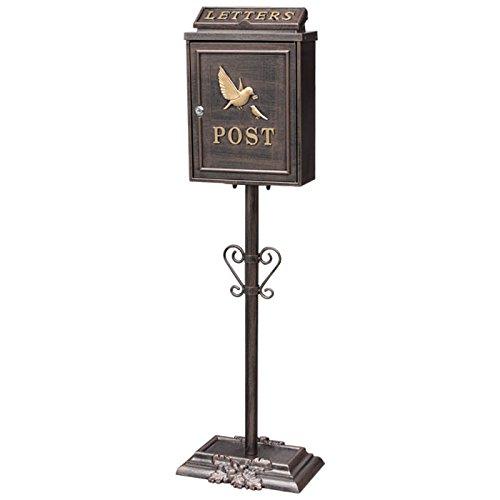 鋳物 ポストスタンド 鳥の親子 GBR B073ZZST58 19840
