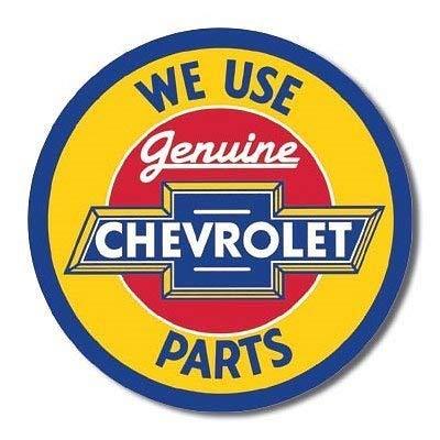 MMNGT Chevrolet Chevy Genuine Parts Round Retro Vintage Tin Sign TIN Sign 7.8X11.8 INCH