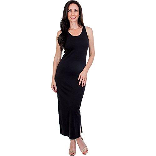 Steven Craig Women's Tank Dress Black Large (Dress Cotton Pima)
