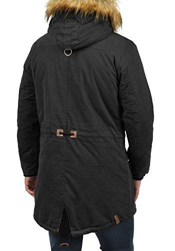 9000 Solid Black Parka Men's Colour XXL Vidage Size wFqRxP0F