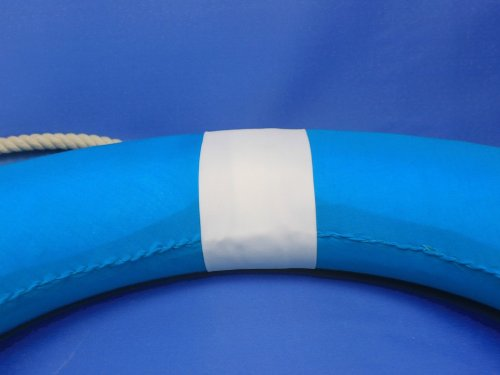 Light Blue Lifering with White Bands 20'' - Life Saving Ring - Beach Accent - De
