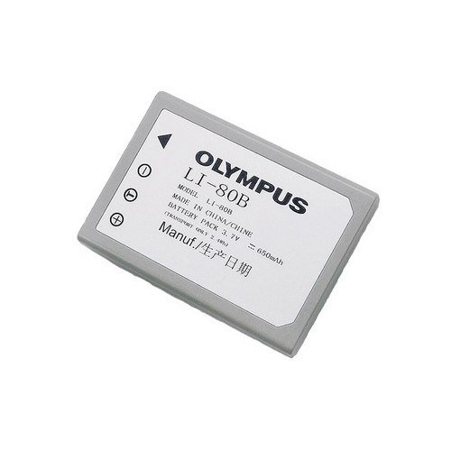 Olympus LI-80B Rechargeable Lithium-ion Battery, 650mAh, 3.7V, for Various Digital Cameras