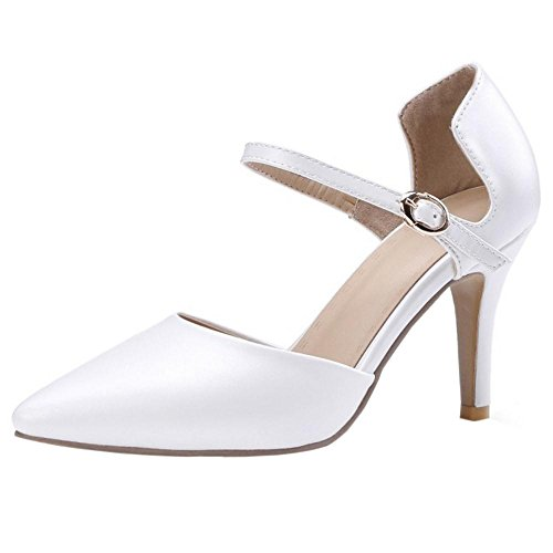 Coolcept Women High Heel Summer Dress Shoes White Lh5bBT6
