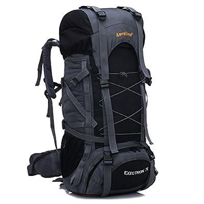 YAAGLE Unisex Nylon Oxford 70L Outdoor Hiking Mountain Climbing Camping Backpack Explorer Sports Cycling Biking Rucksack Travel Bag Blue Black Red Orange