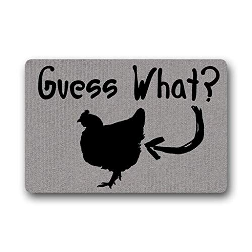 DEGTTF Custom Doormat What's Up Chicken Butt!Bathroom Living Room Kitchen Bay Window Area Rug Floor Mat Door Mats Inside/Outside Home Decorative 23.6x15.7cm