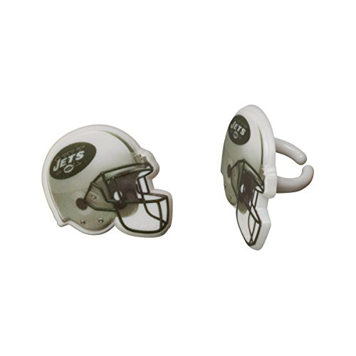 New York Jets Cupcake Rings Cake Decoration Birthday Football NFL 24 Count
