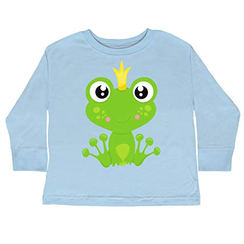 inktastic - Frog Prince, Green Toddler Long Sleeve T-Shirt 2T Light Blue ()
