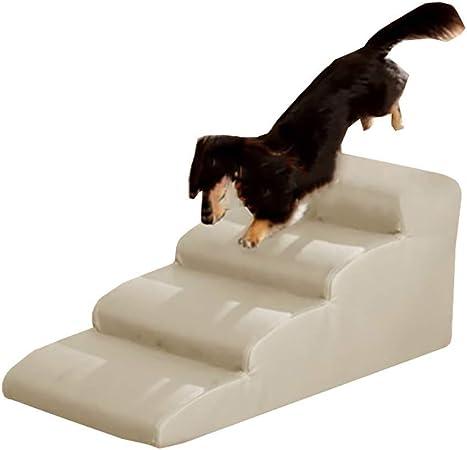 Escaleras y escalones Rampa De Escaleras para Mascotas Fácil para Perro Gato, Escalera Antideslizante Portátil De 4 Escalones para Sofá Cama Alta, Cubierta Extraíble, Soporte De 198 LB: Amazon.es: Hogar