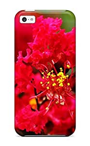 Tpu Case Cover For Iphone 5c Strong Protect Case - Flower Design