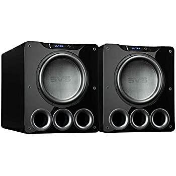"SVS PB16-Ultra 1500 Watt 16"" Ported Cabinet Subwoofer (Piano Gloss Black - Pair)"