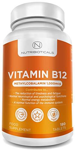 Vitamin B12 Methylcobalamin 1000mcg 180 Tablets (6 Month Supply) by...