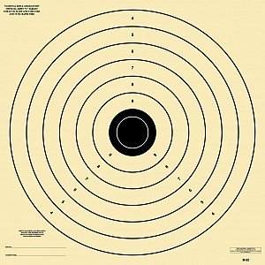 25 Yard Army L Target, B-22 Paper Target, 28