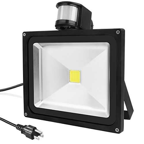 Warmoon Outdoor LED Flood Light,30W Outdoor Motion Sensor Light,1200LM LED Security Light 6500K,IP65 Waterproof Flood Light,Adjustable Head Flood Light for Entryways, Stairs,Porch,Yard and Garage.