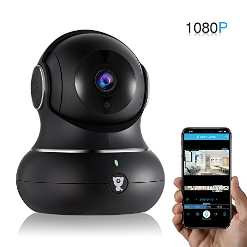 Wireless Home IP Camera – Littlelf Security Indoor WiFi Camera 1080P IP for Baby,Pets,Home,Office,Monitor with Pan Tilt Zoom,Night Version & 2-Way Audio Cloud Service Available (Black) For Sale