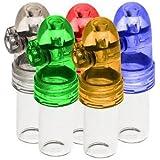 5-Pack acrylic snuff bullet w/ glass vial Snuff rocket snorter