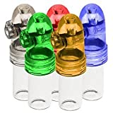 5-Pack acrylic snuff bullet w/ glass vial Snuff rocket snorter