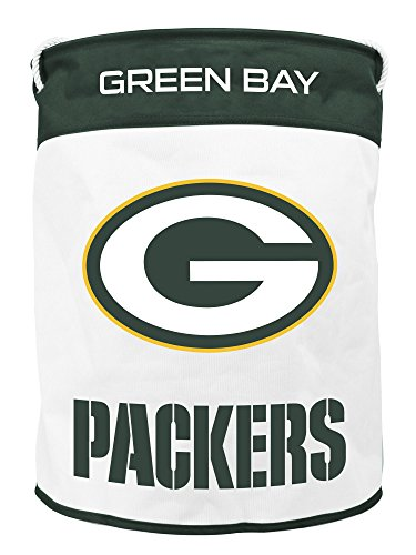 NFL Green Bay Packers Canvas Laundry Basket with Braided Rope Handles