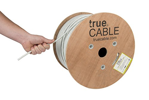 Cat6A Riser (CMR), 1000ft, White, 23AWG 4 Pair Solid Bare Copper, 750MHz, ETL Listed, Unshielded Twisted Pair (UTP), Bulk Ethernet Cable, trueCABLE