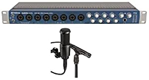 Package: Presonus AUDIOBOX 1818VSL Advanced 18 In x 18 Out USB 2.0 Recording System w/ Real Time Monitoring Effects and Virtual Studiolive Mixer Built In + Audio Technica AT2041SP Studio Microphone Package