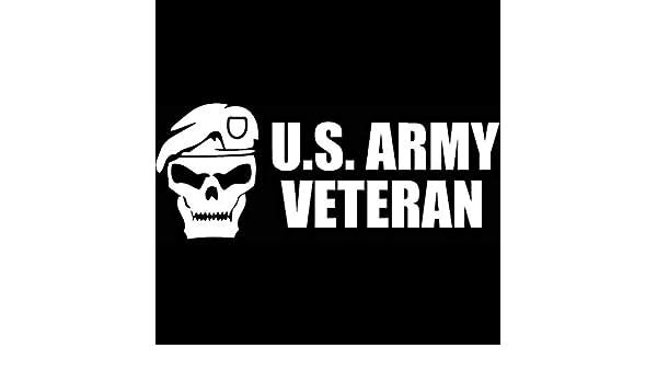 DecalDestination US Army Veteran Decal White Choose Size