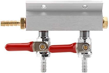 Distribuidor de Gas de la Cerveza Air Gas Manifold Distribución de la Cerveza 2 Maneras para Uso en el hogar