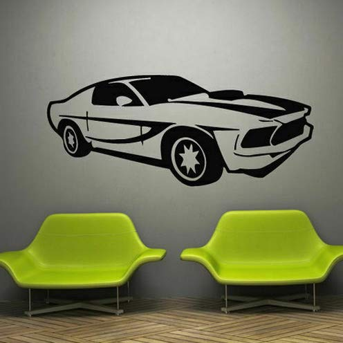 (Tomikko Wall Decal Decor Sticker Vinyl Car Race Mustang Track Speed Sport Wheel M795 | Model DCR - 228)