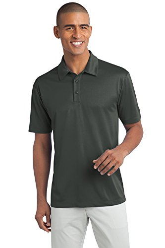 Port Authority Men's Silk Touch Performance Polo XL Steel Grey Cap Sleeve Knit Polo Top